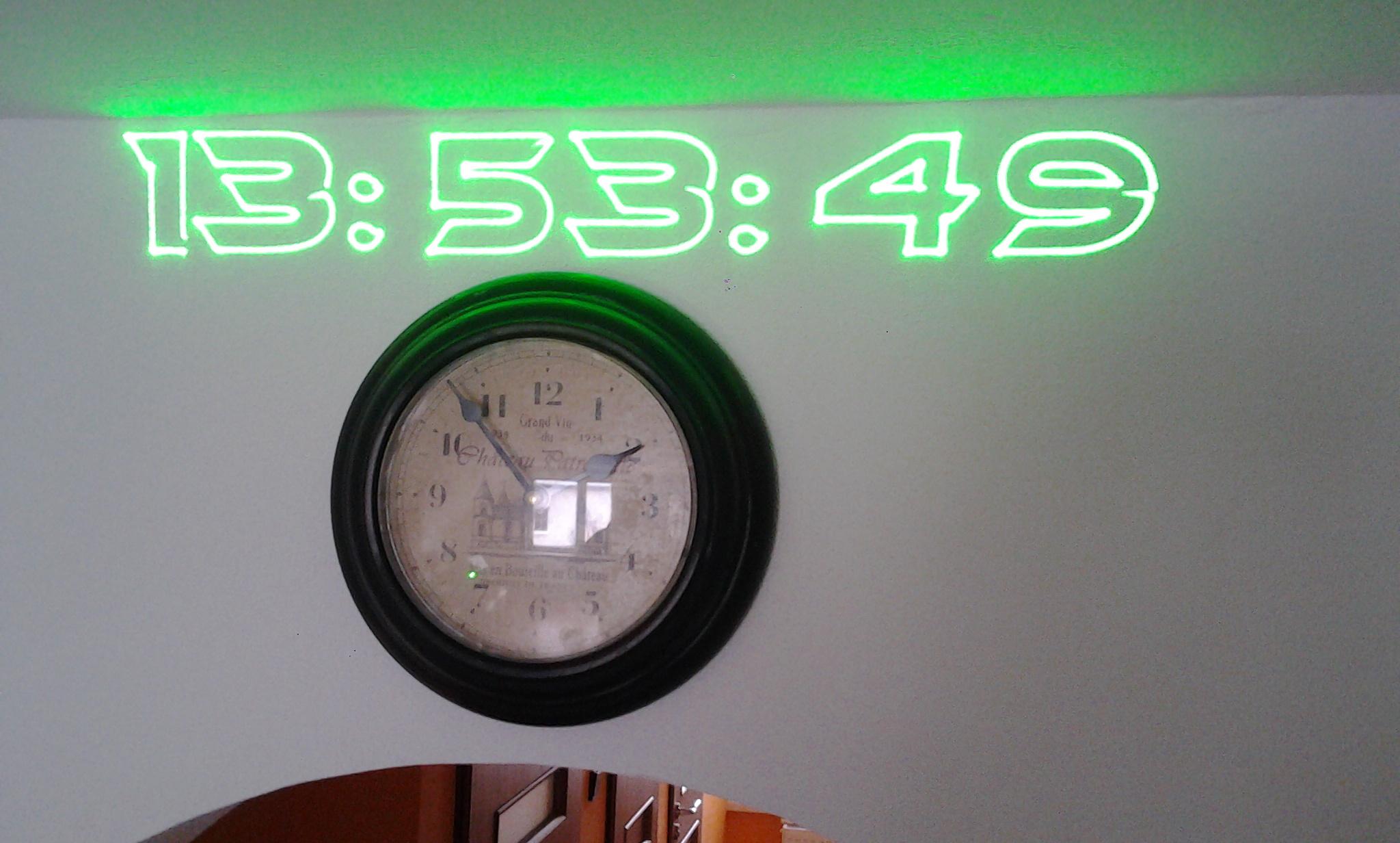 Laserové hodinky