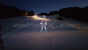 MÝTO SKI & BIKE - Laser ADVERTISING /laserová reklama/ TEST