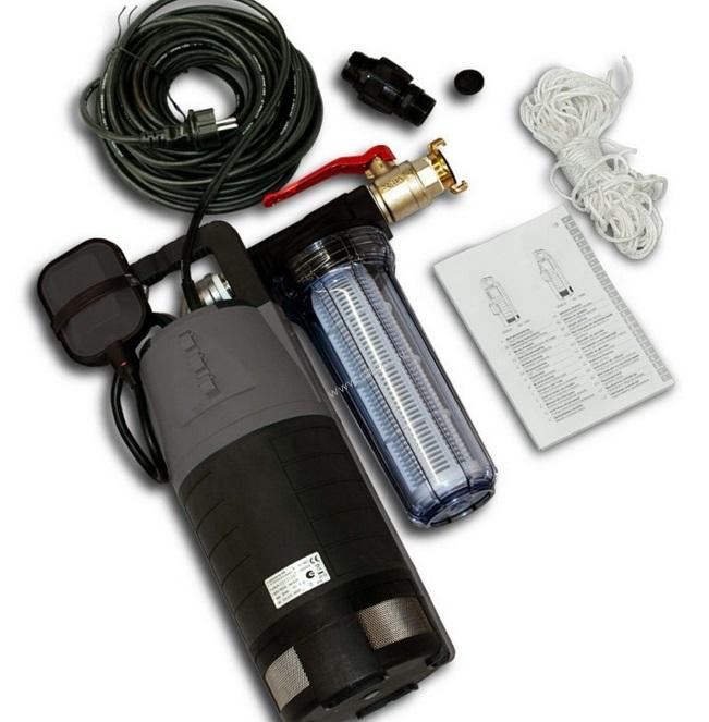 Pump for water screen (incl. hose)