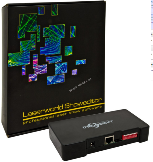 Laserworld Showeditor 2015 Set - Laser Show Software incl. ShowNET LAN Interface